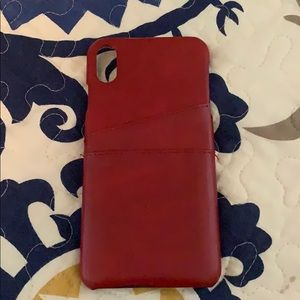Accessories - 🔥Red leather iPhone X Max case🔥